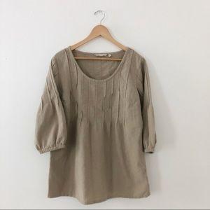 Soft Surroundings | Pintuck Gauze Pullover Cream